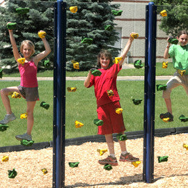 Clear Playground Climbing Wall