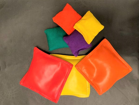 beanbags to use as props during climbing wall activities