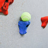 Climbing Wall Ball Holder with Tennis Ball Side View