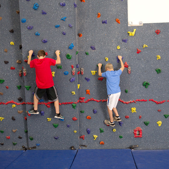 Combination Traverse and Top Rope Climbing Wall