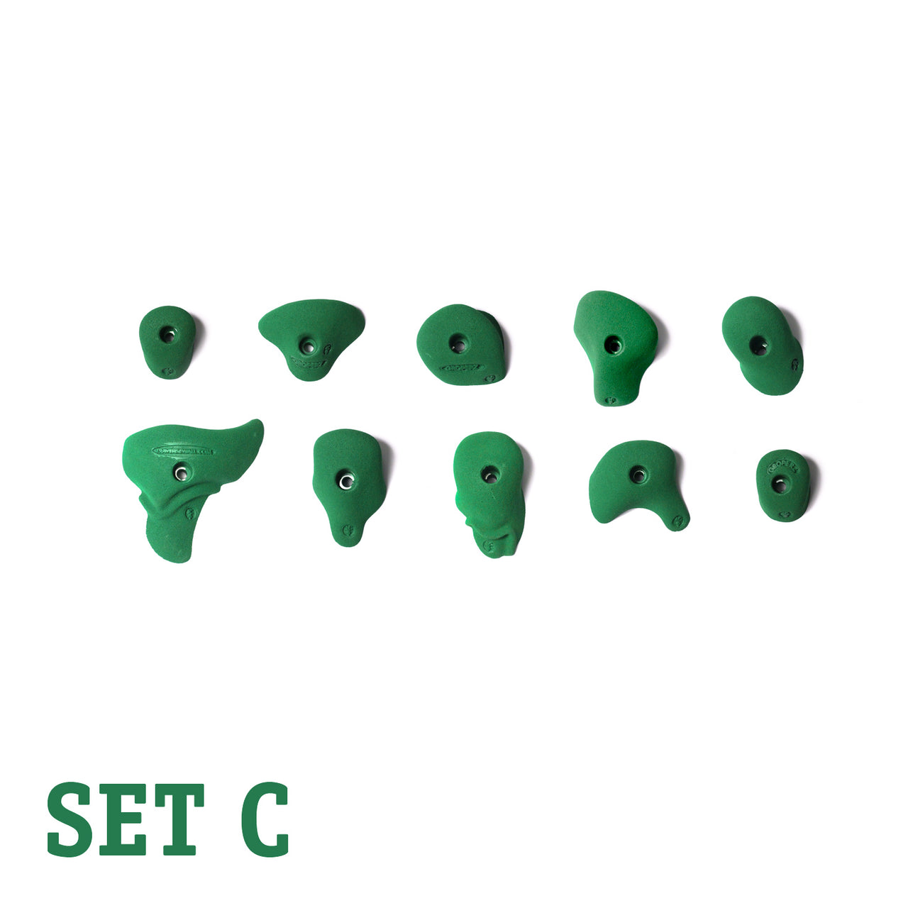 Groperz Beginner Route-Setting Hand Holds – Set C