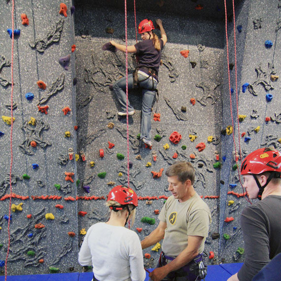 Top Rope Climbing Wall Training