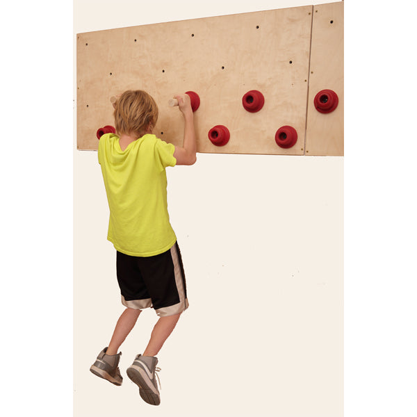 Get a great upper body workout with our peg board.