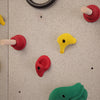 Use the Ultimate Traverse Wall Challenge Course Peg Holds with your climbing wall to add challenge.