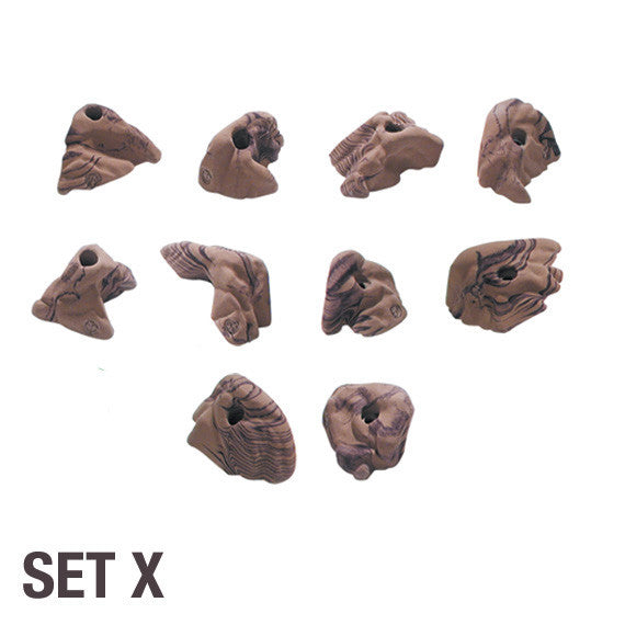 Groperz Rock Realistic Hand Holds - Set X