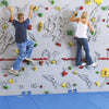 Relief-Feature Traverse Climbing Wall Two Climbers
