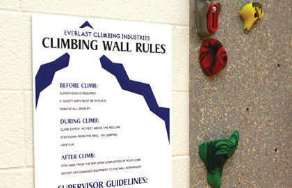 Traverse Wall Rules And Guidelines Sign