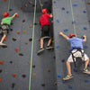 Top Rope Climbing Wall Three Climbers