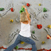 Relief-Feature Traverse Climbing Wall One Climber