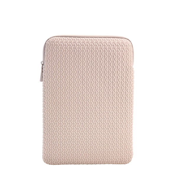 "Embossed Laptop Sleeve 13""- Blush"
