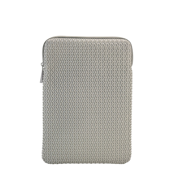 "Embossed Laptop Sleeve 13""- Grey"