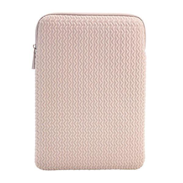 "Embossed Laptop Sleeve 15"" - Blush"