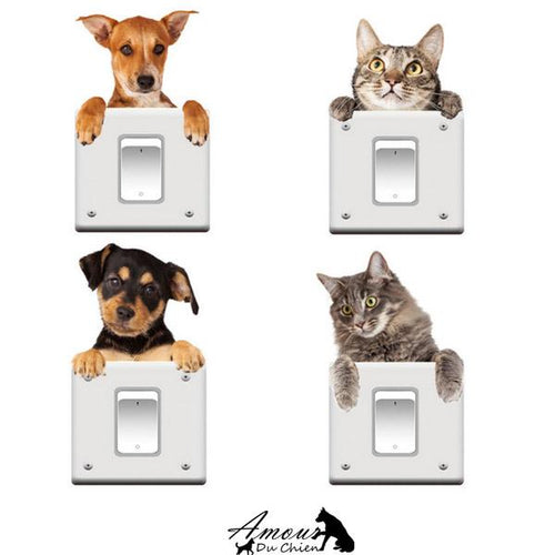 stickers autocollant chien chat