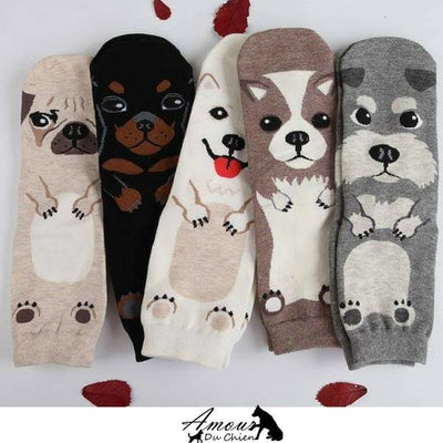 chaussette forme silhouette chien