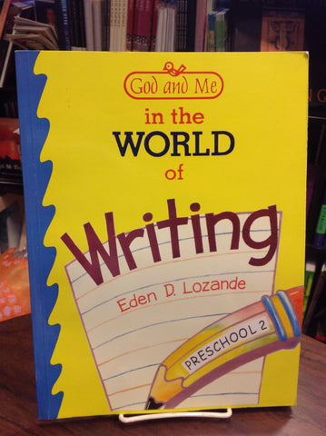 God and Me in the World of Writing - Preschool 2