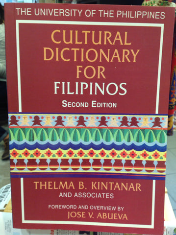 Cultural Dictionary For Filipinos 2nd Edition, University of the Philippines