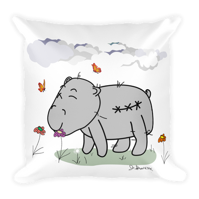 Beau Jo L'Hippo- Double Sided Square Pillow