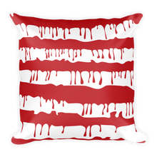 """Splatter Americana""- Square Pillow"