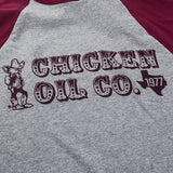 Chicken Oil baseball tee