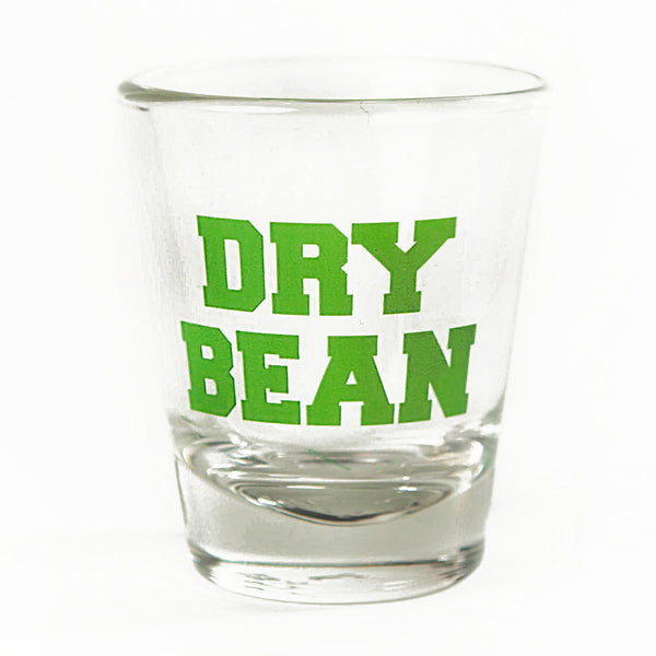 Dry Bean Collegiate Logo Shot Glass