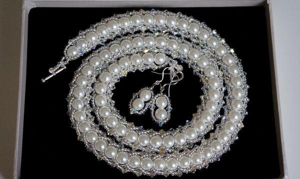 Bridal Spark necklace, custom order for Rika-san - DereDere Jewellery