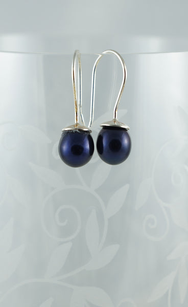 Black Pearl Earrings - DereDere Jewellery