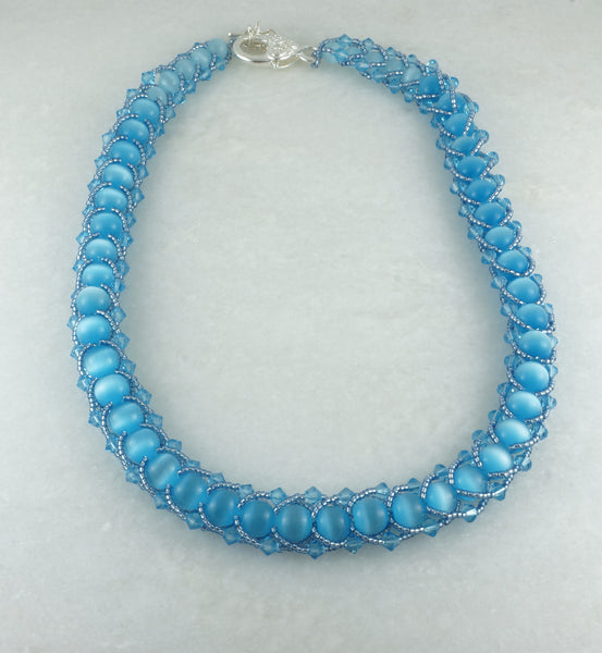 Blue Spark Necklace - DereDere Jewellery