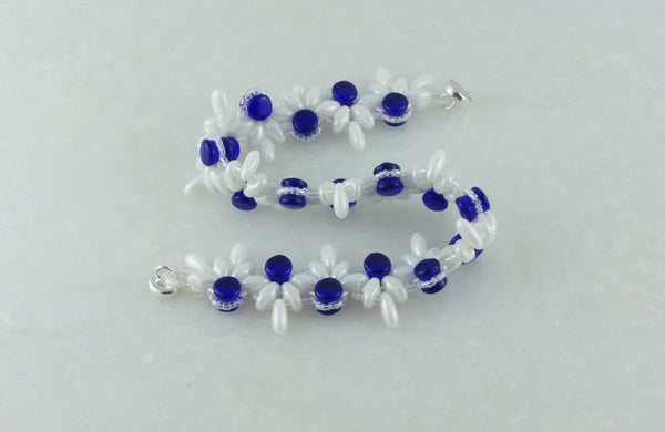 Something Blue Zigzag Bracelet - DereDere Jewellery