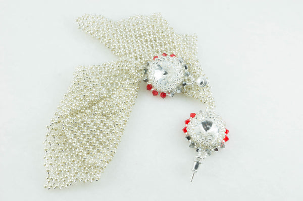 Custom Order Red Drops Bridal Set for Ioana - DereDere Jewellery