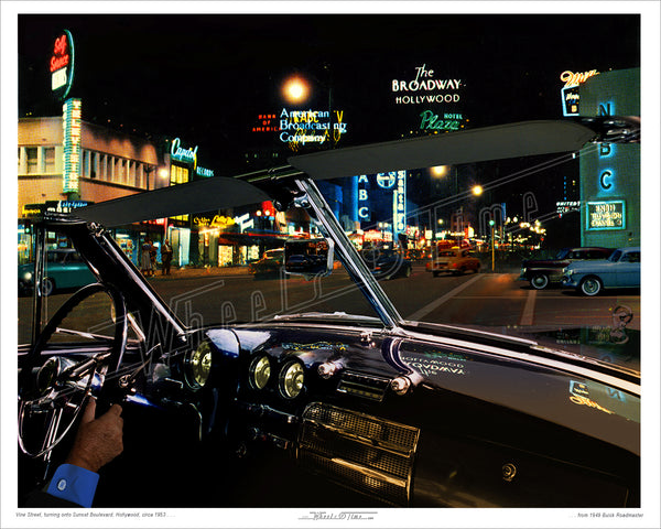 CA - Hollywood | Sunset & Vine | 1949 Buick