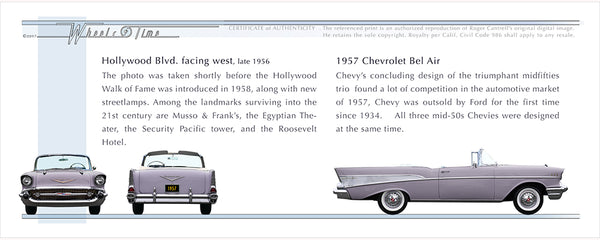 CA s > Hollywood Blvd | 57 Chevrolet