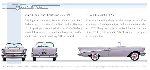 CA > Santa Claus Lane | 57 Chevrolet