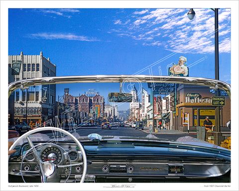 CA - Hollywood Blvd '57 | 1957 Chevrolet