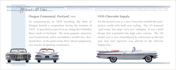 Oregon | Centennial, 1959 | 59 Chevrolet