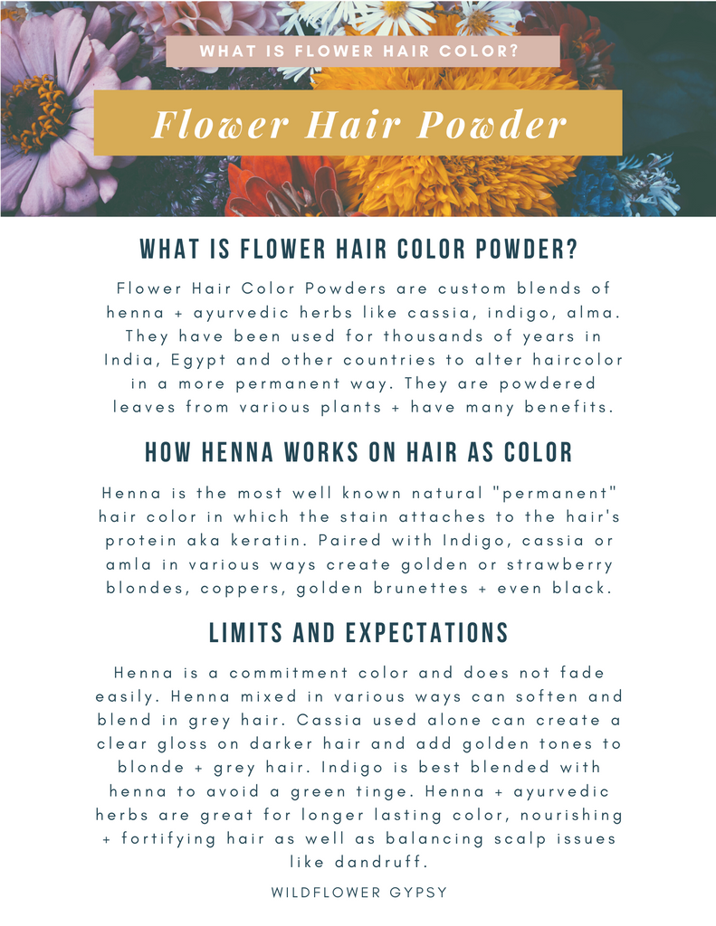 Flower Hair Powder