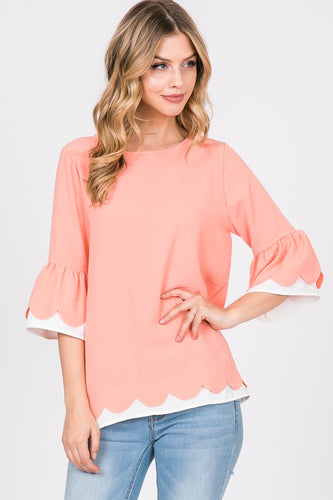 Cora Scalloped Top