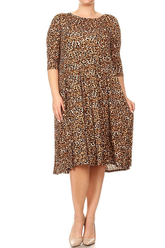 Lindsey Leopard Dress