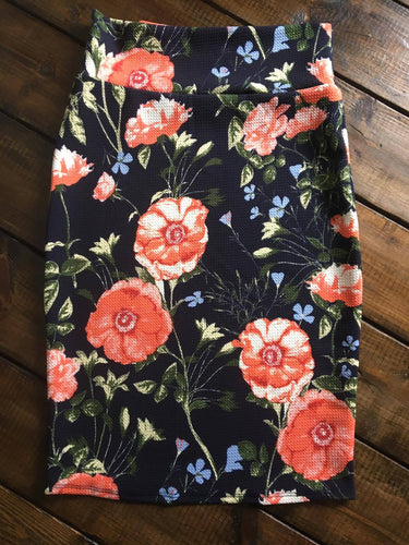 Jr Navy Floral skirt