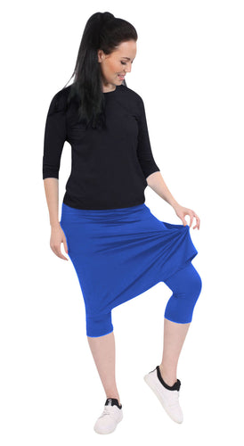Athletic skirt with leggings - dazzling blue
