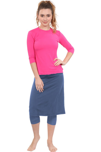 Athletic skirt with leggings - NAVY