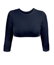 Cropped 3/4 Sleeve Shell Top