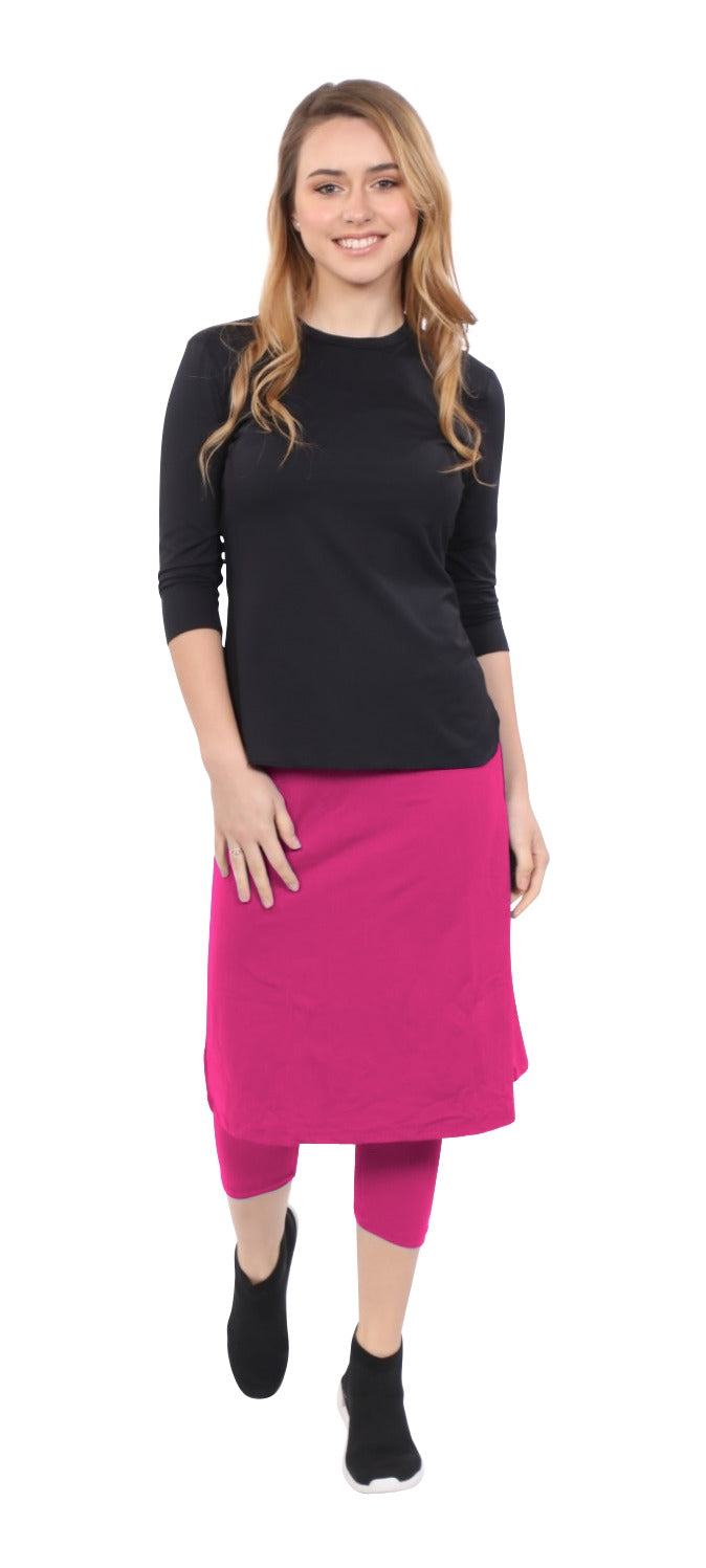 Athletic skirt with leggings - PINK