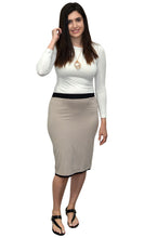Fitted Pencil Reversible Skirt