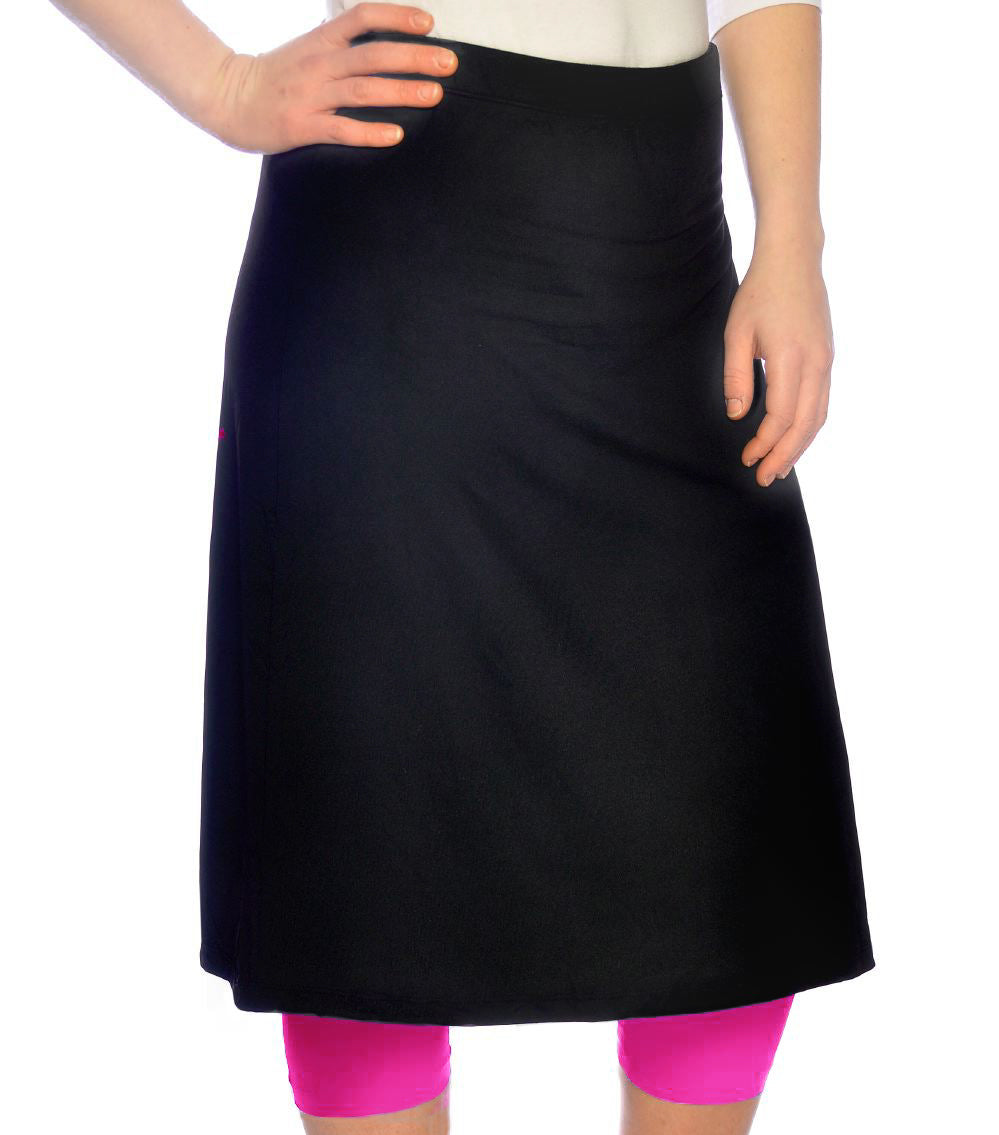 Athletic skirt with multi colored leggings