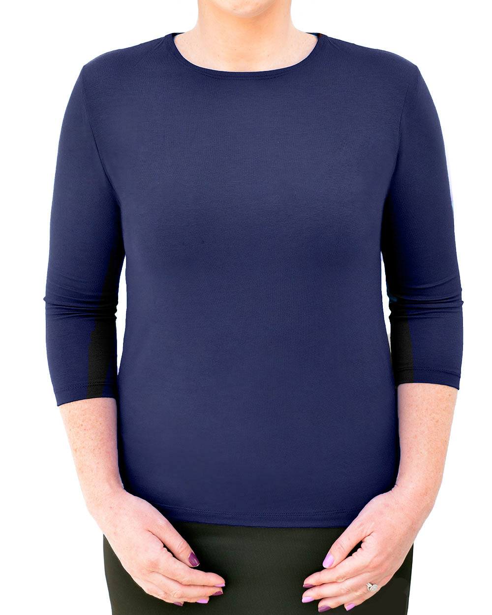 3/4 Sleeve Shell Top