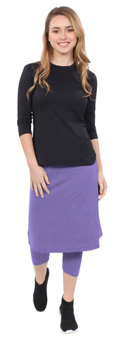 Athletic skirt with leggings - Amethyst