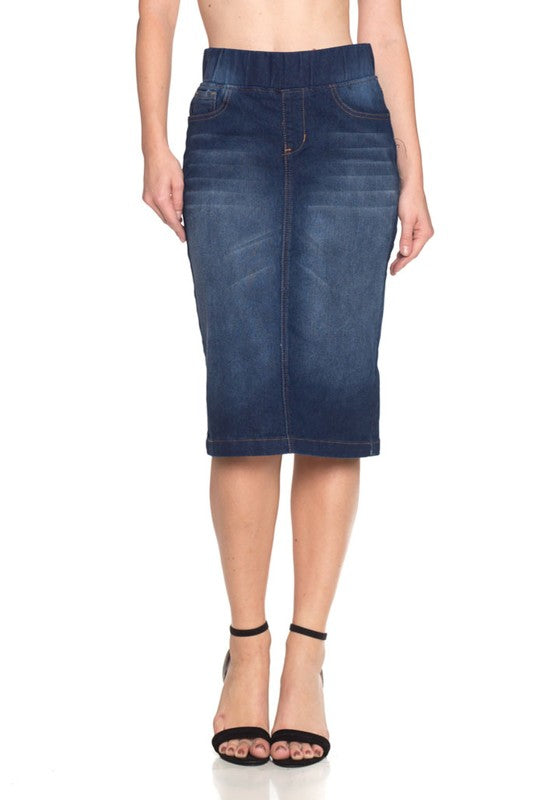 Callie Dark Indigo Wash Skirt