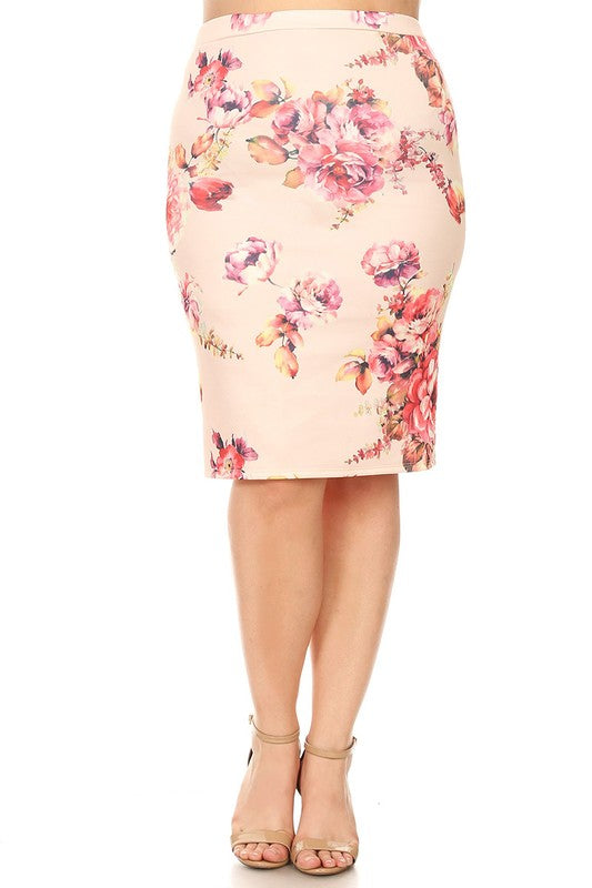 Bella Peach Floral skirt