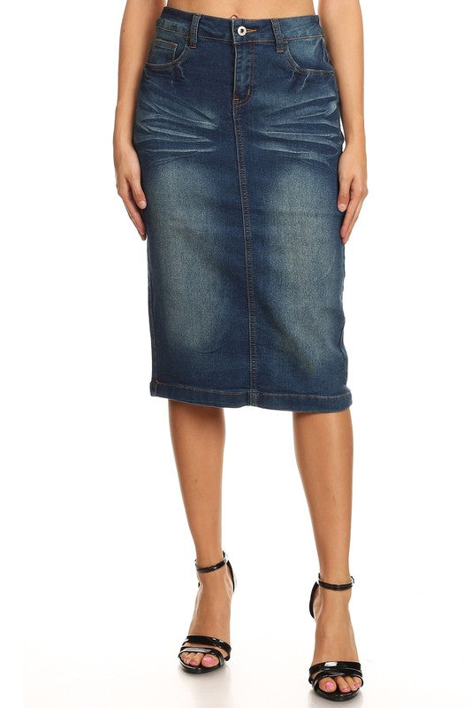 Joni Vintage Denim Skirt