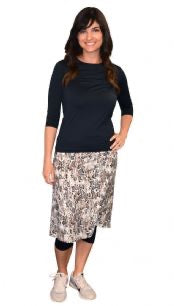 Snake Print Athletic/Swim Skirt with Leggings